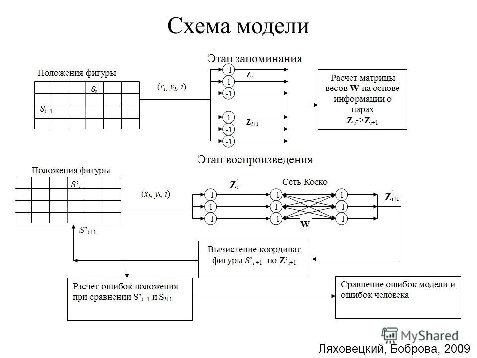 Схема модели Ляховецкий, Боброва, 2009