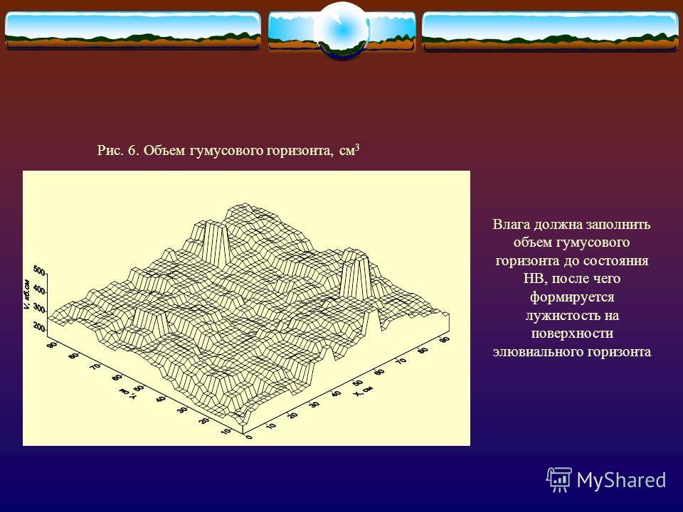 В начальный момент поступления осадков на поверхность сухой почвы доминирует процесс впитывания. В случае превышения интенсивности поступления осадков над впитыванием формируются микроочаги луж, где инфильтрация интенсивней под напором H (глубина луж