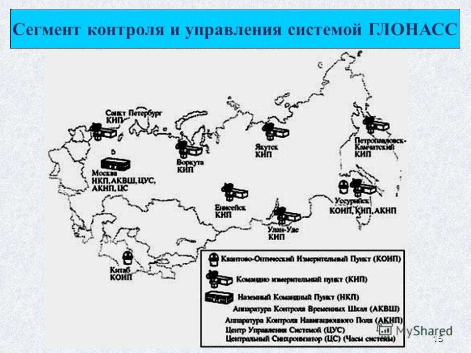 15 Сегмент контроля и управления системой ГЛОНАСС