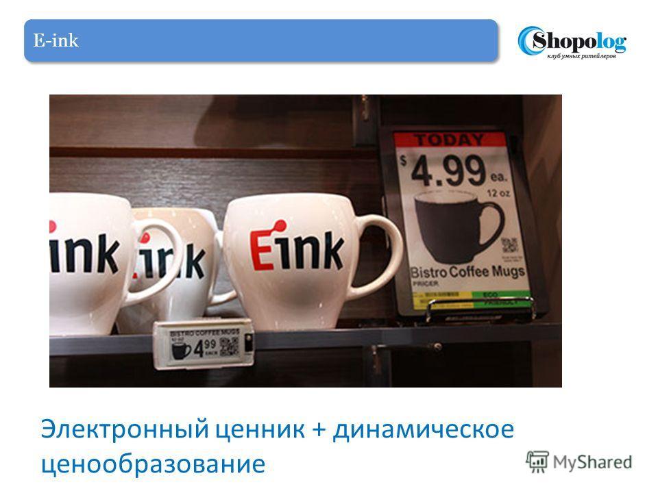 E-ink Электронный ценник + динамическое ценообразование