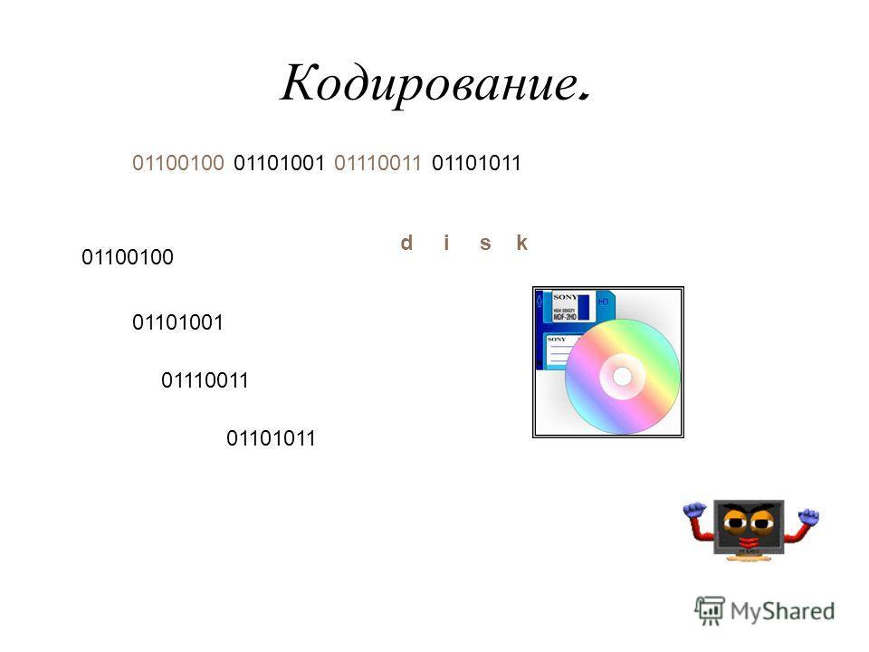 Кодирование. 01110011 01101011 01101001 01100100 01100100 01101001 01110011 01101011 disk