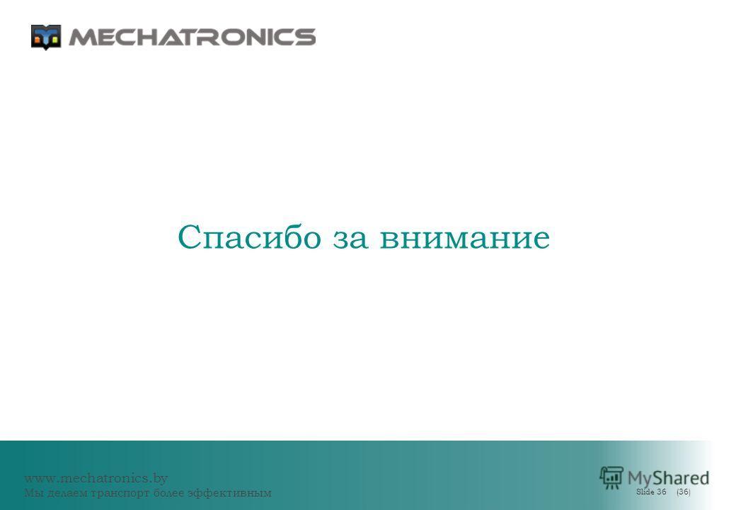 www.mechatronics.by Мы делаем транспорт более эффективным Slide 36 (36) Спасибо за внимание