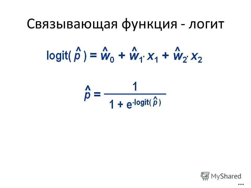 Связывающая функция - логит...