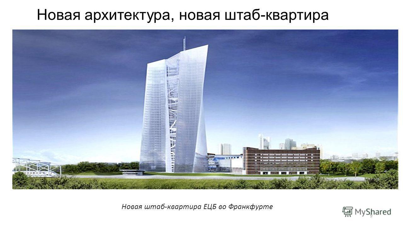 Новая архитектура, новая штаб-квартира Новая штаб-квартира ЕЦБ во Франкфурте 9