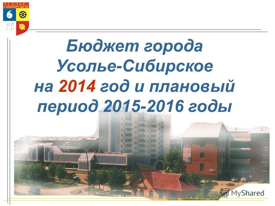 Бюджет города Усолье-Сибирское на 2014 год и плановый период 2015-2016 годы