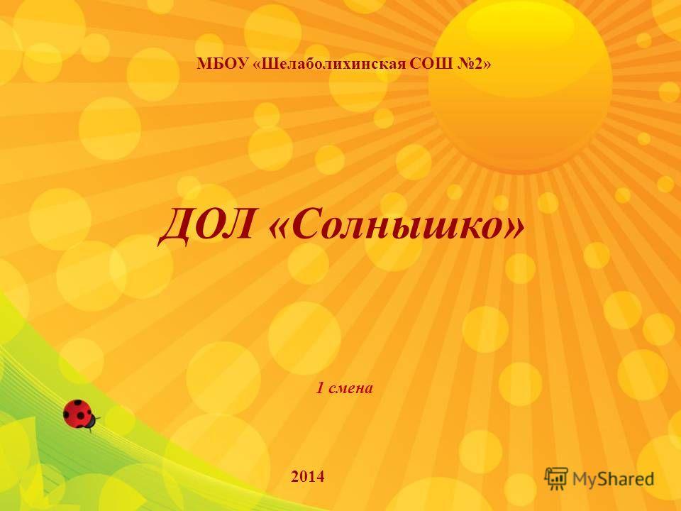 ДОЛ «Солнышко» 1 смена МБОУ «Шелаболихинская СОШ 2» 2014