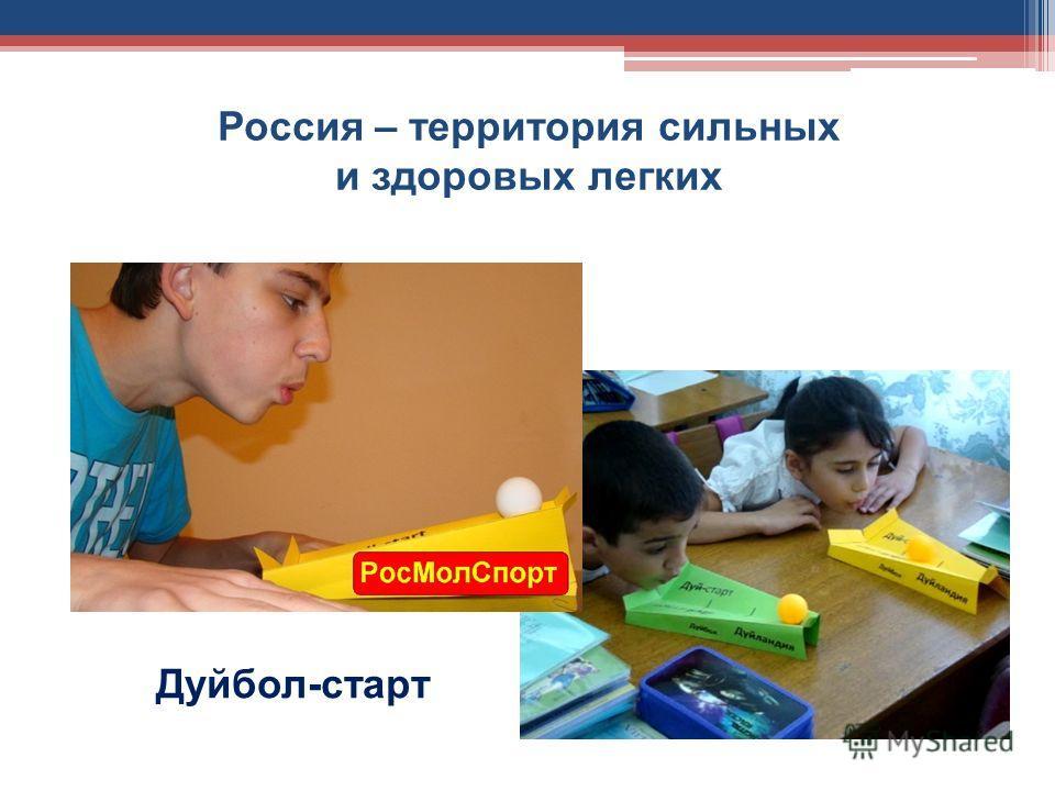 Россия – территория сильных и здоровых легких Дуйбол-старт
