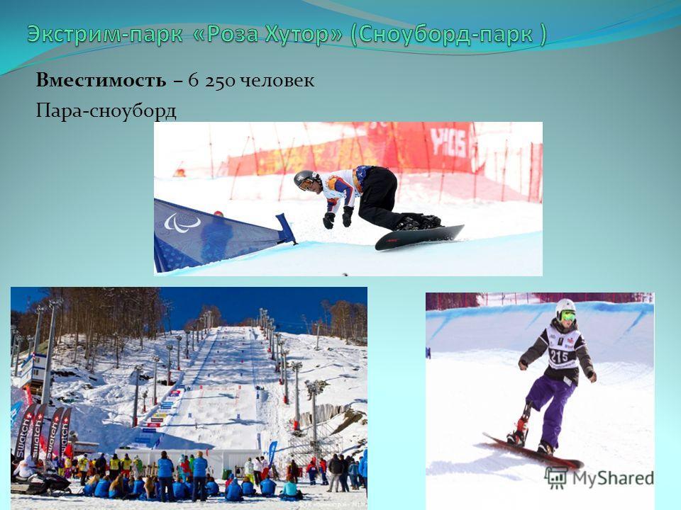 Вместимость – 6 250 человек Пара-сноуборд