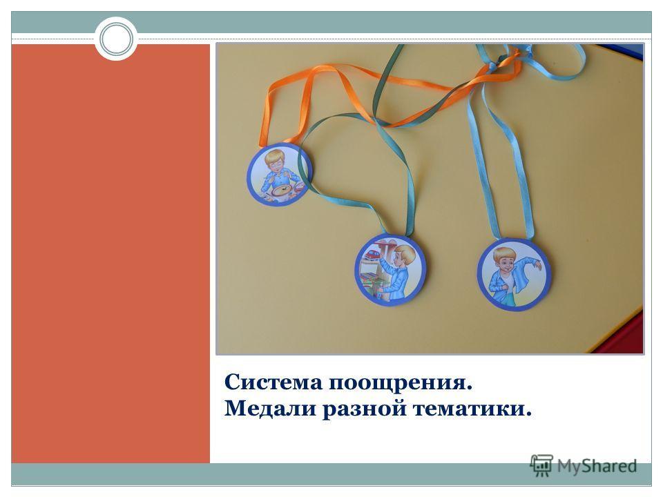 Система поощрения. Медали разной тематики.