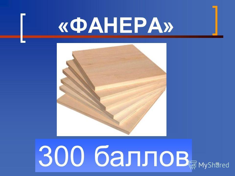69 300 баллов «ФАНЕРА»