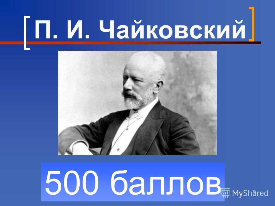 73 500 баллов П. И. Чайковский