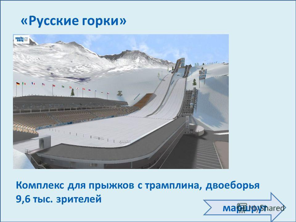 Олимпийские игры пройдут на территории Сочинского национального парка Церемонии открытия, закрытия, награждения 40 тыс. зрителей Олимпийский стадион «Фишт» Соревнования по хоккею с шайбой 12 тыс. зрителей Ледовый дворец «Большой» Соревнования по хокк