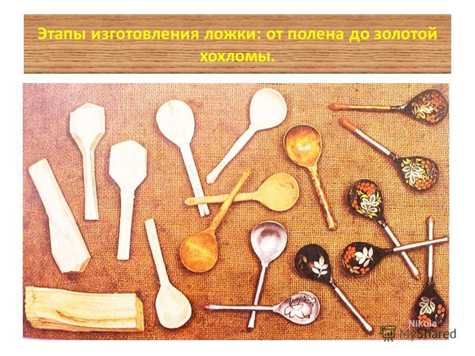 Этапы изготовления ложки: от полена до золотой хохломы.