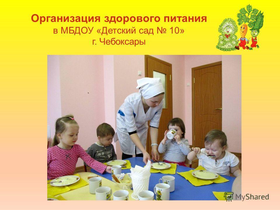 Организация здорового питания в МБДОУ «Детский сад 10» г. Чебоксары