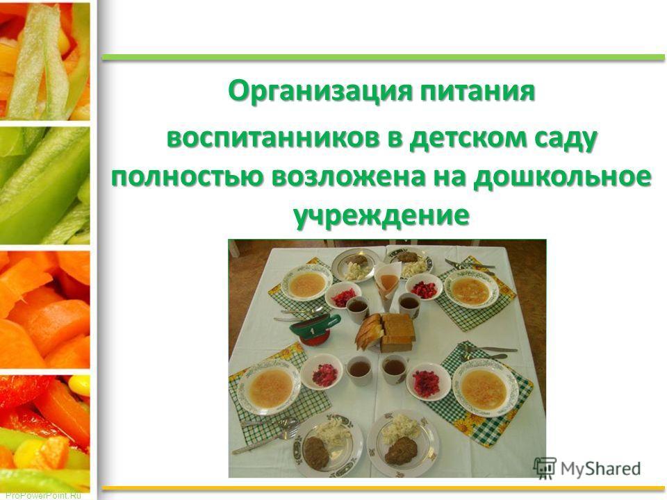 ProPowerPoint.Ru Организация питания воспитанников в детском саду полностью возложена на дошкольное учреждение