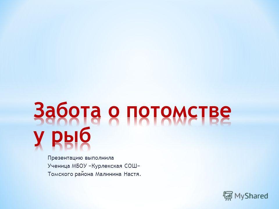 Презентацию выполнила Ученица МБОУ «Курлекская СОШ» Томского района Малинина Настя.