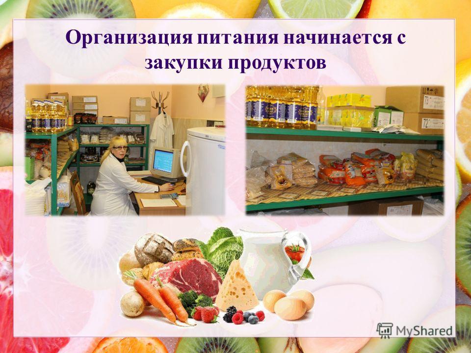 Организация питания начинается с закупки продуктов