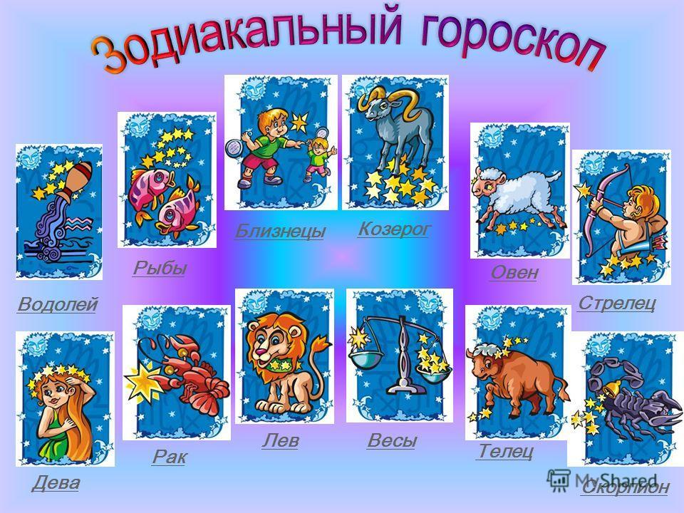 Водолей Рыбы Овен Стрелец Дева Рак Лев Весы Скорпион Близнецы Козерог Телец