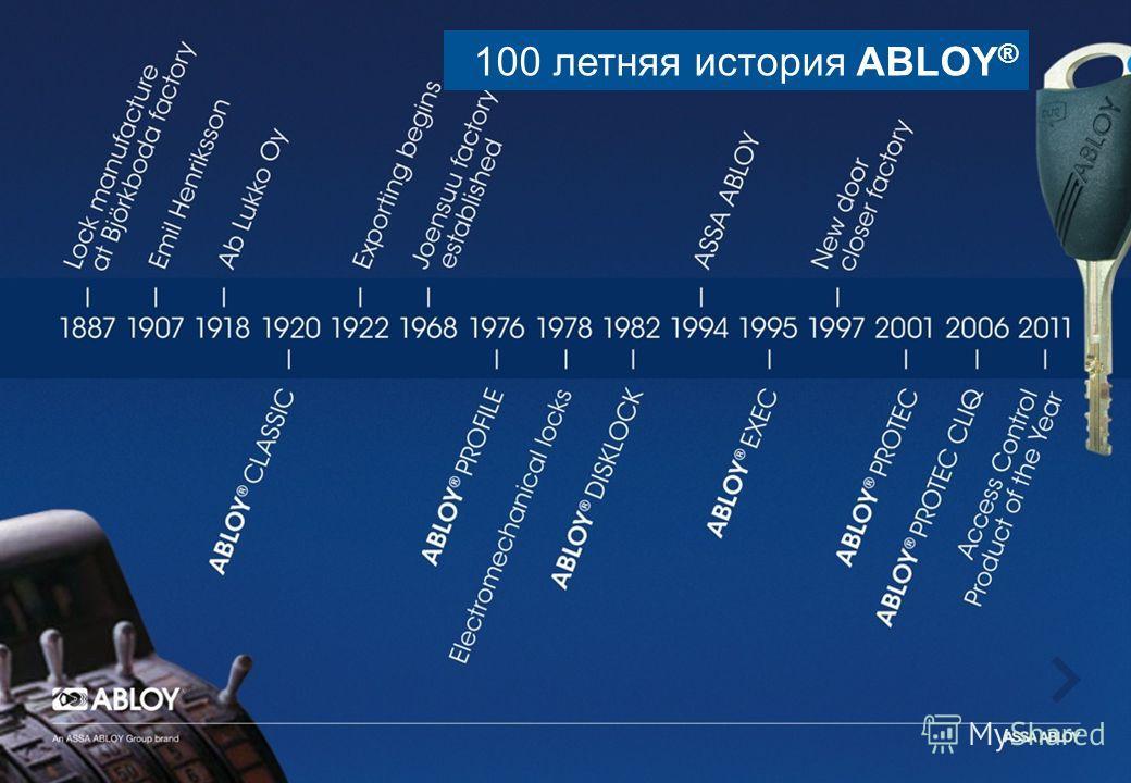 100 летняя история ABLOY ®