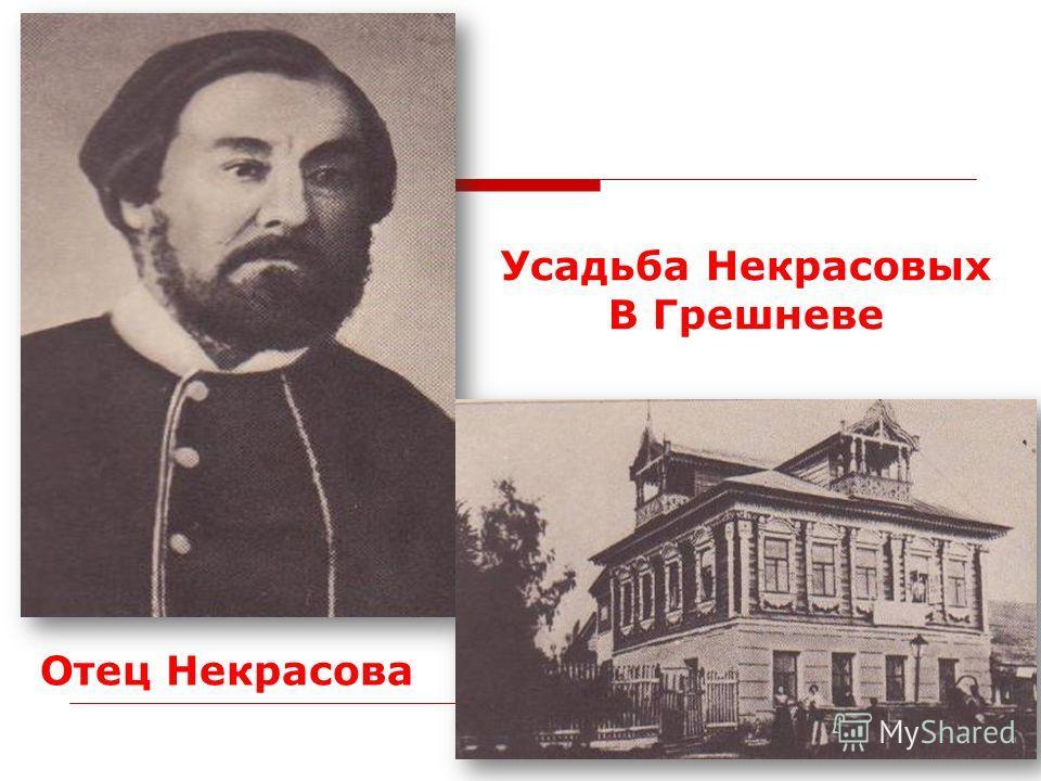 Отец Некрасова Усадьба Некрасовых В Грешневе