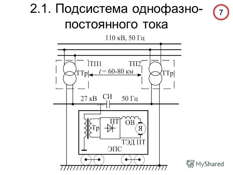 2.1. Подсистема однофазно- постоянного тока 7
