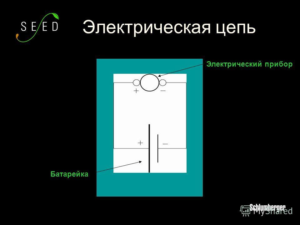 Электрическая цепь Электрический прибор Батарейка