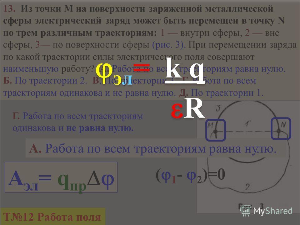 12. Как изменится энергия электрического поля в конденсаторе, если его заряд увеличить в 2 раза ? А. Не изменится. Б. Уменьшится в 4 раза. В. Увеличится в 2 раза. Г. Уменьшится в 2 раза. Д. Увеличится в 4 раза. П = СU2СU2 2 = q 2 2C 2C Д. Увеличится