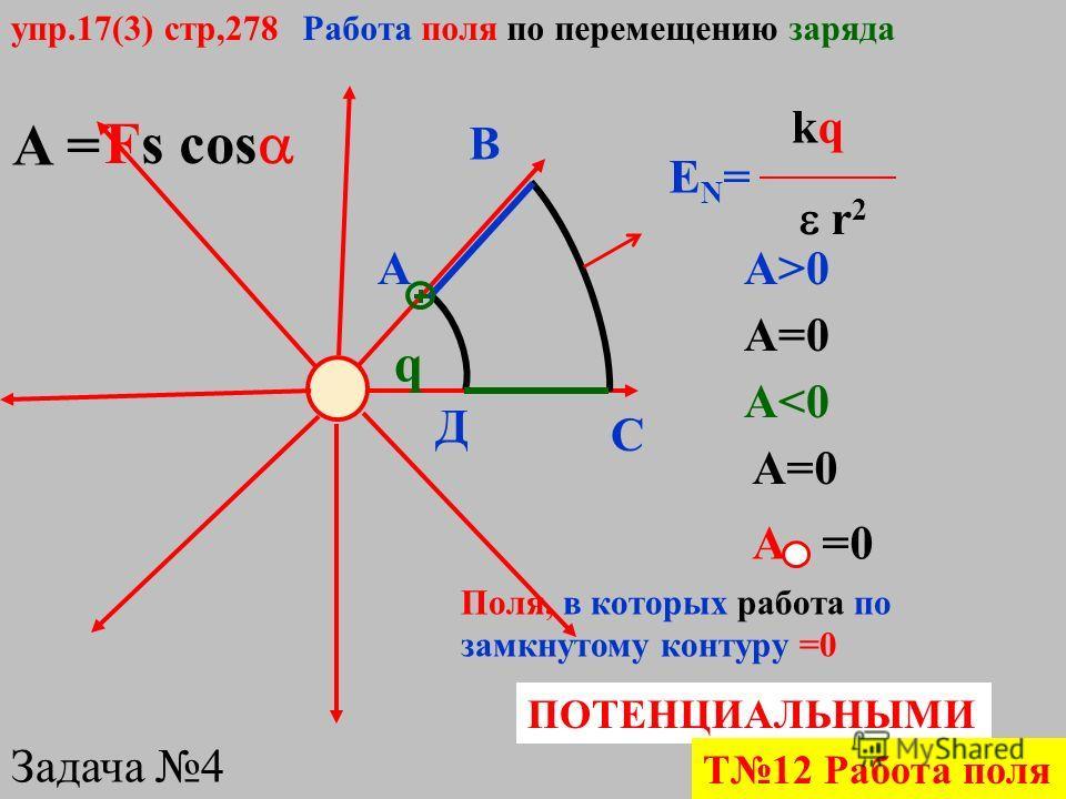 13. Из точки М на поверхности заряженной металлической сферы электрический заряд может быть перемещен в точку N по трем различным траекториям: 1 внутри сферы, 2 вне сферы, 3 по поверхности сферы (рис. 3). При перемещении заряда по какой траектории си