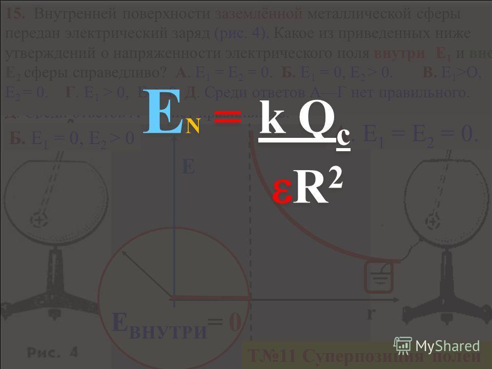 d 14. Плоский воздушный конденсатор зарядили и отключили от источника тока. Как изменится энергия конденсатора при уменьшении расстояния между его пластинами в 2 раза? Решите задачу и выберите ответ. А. Уменьшится в 2 раза Б.. Увеличится в 2 раза. В.
