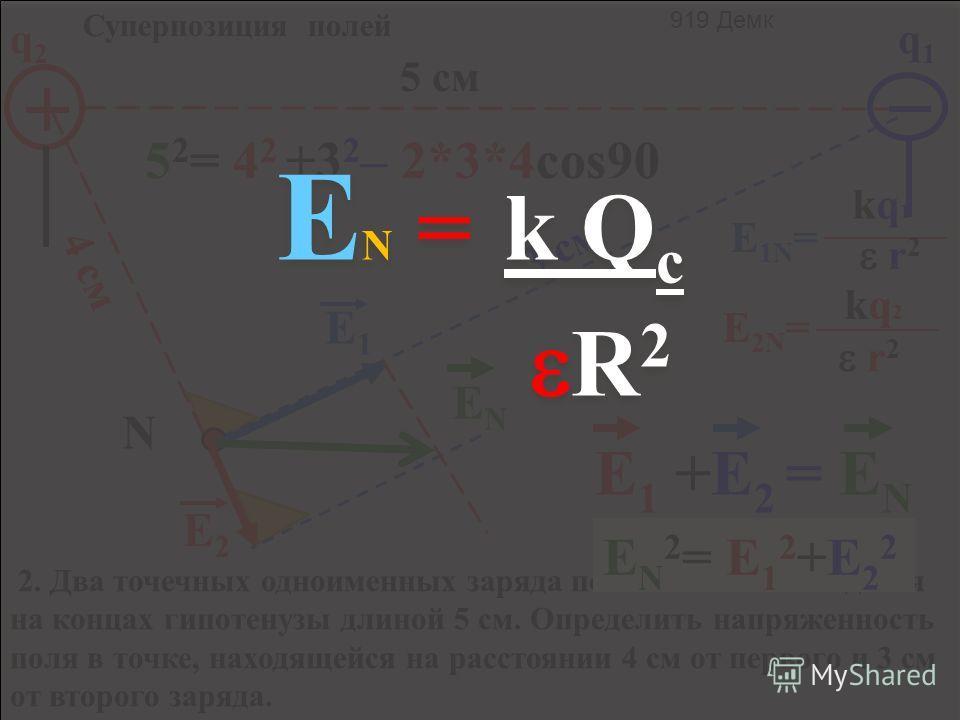 ЕN=ЕN= kq ш r 2 r Е E ВНУТРИ = 0 Е пов = kq ш R ш 2 RшRш 911 Демкович