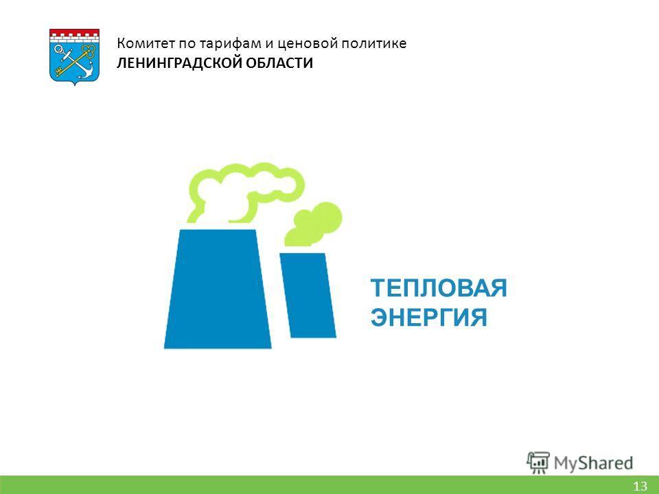13 Комитет по тарифам и ценовой политике ЛЕНИНГРАДСКОЙ ОБЛАСТИ ТЕПЛОВАЯ ЭНЕРГИЯ