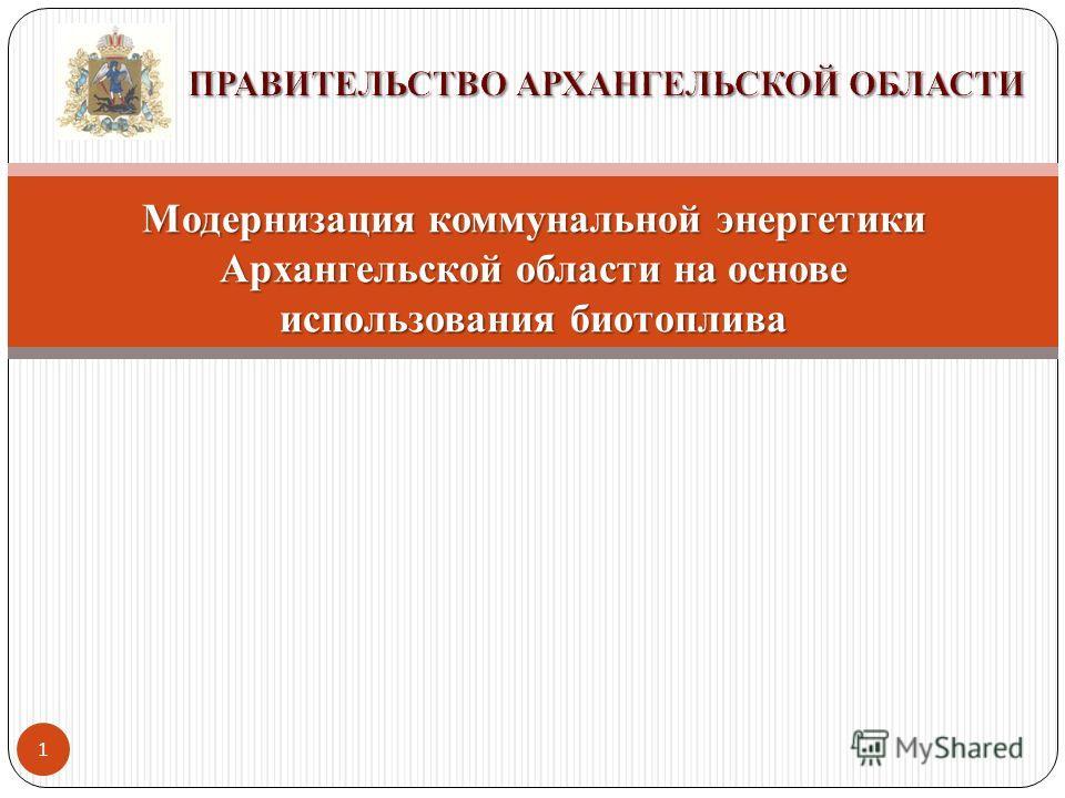 1 Модернизация коммунальной энергетики Архангельской области на основе использования биотоплива