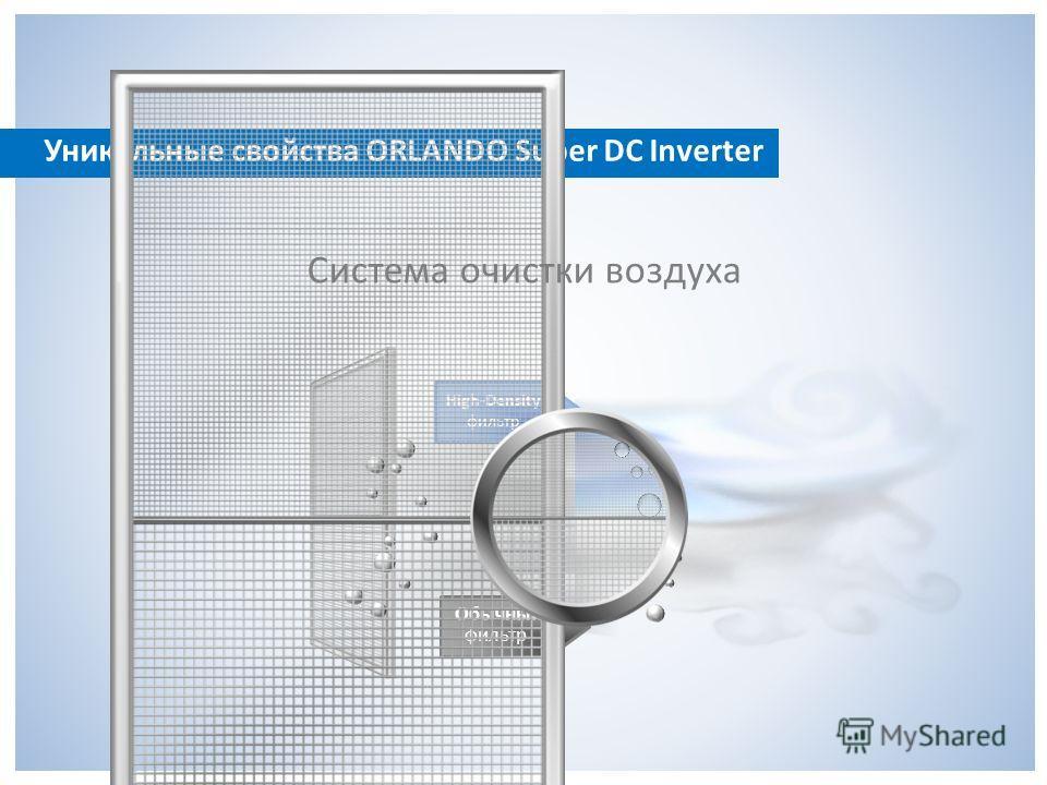 High-Density фильтр Обычный фильтр Система очистки воздуха