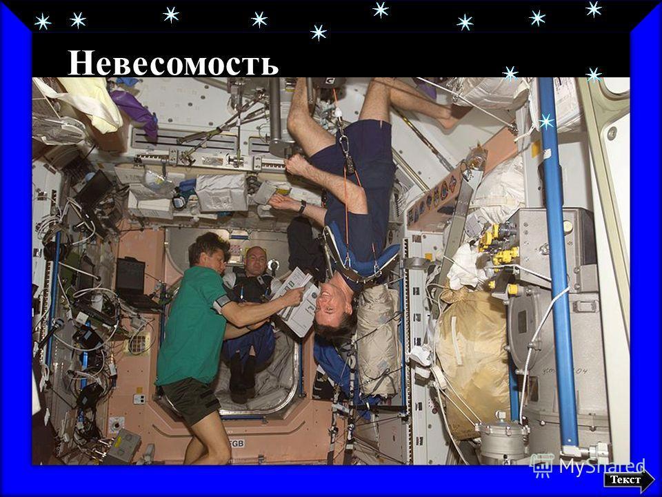 Космонавты на борту Международной космической станции Невесомость Текст