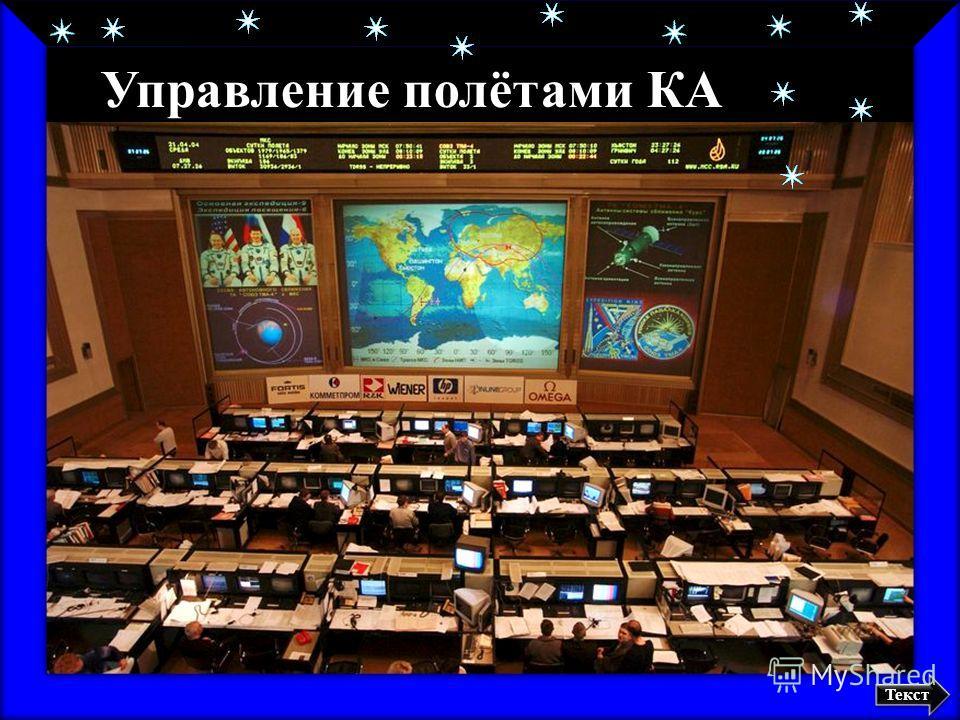 Главный зал ЦУП Управление полётами КА Текст
