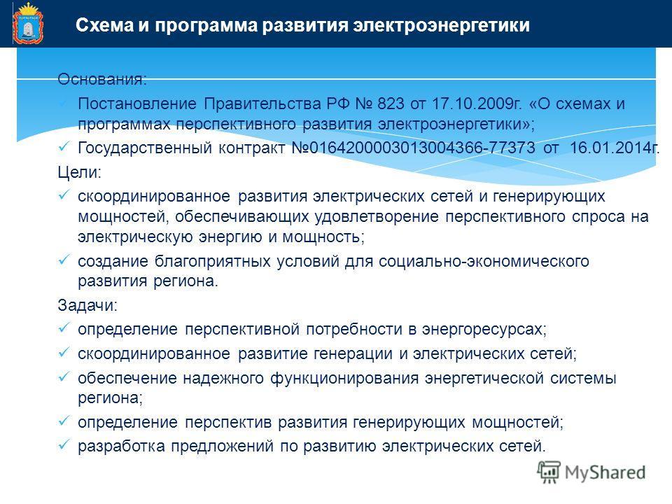 Разработке схемы и программы перспективного развития электроэнергетики
