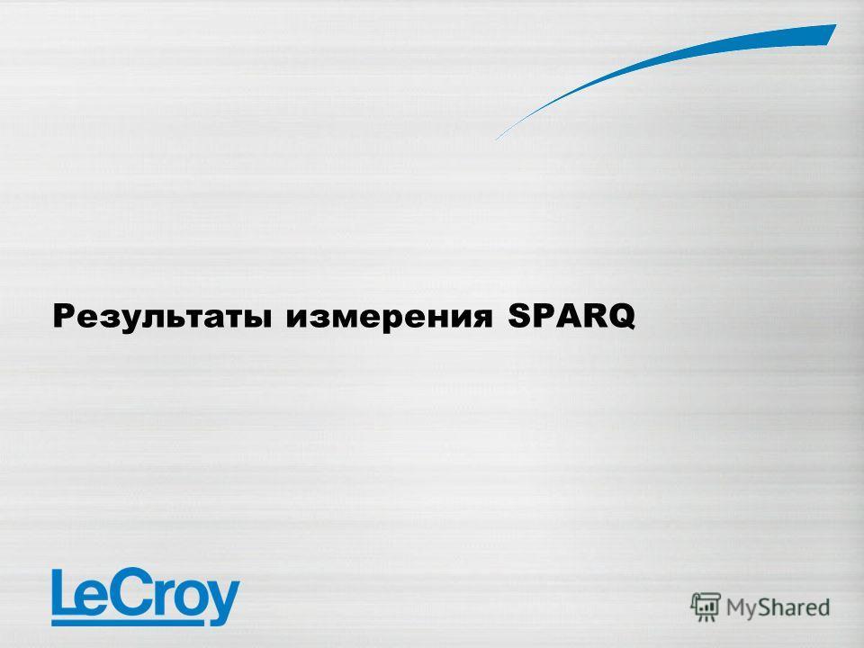 Результаты измерения SPARQ