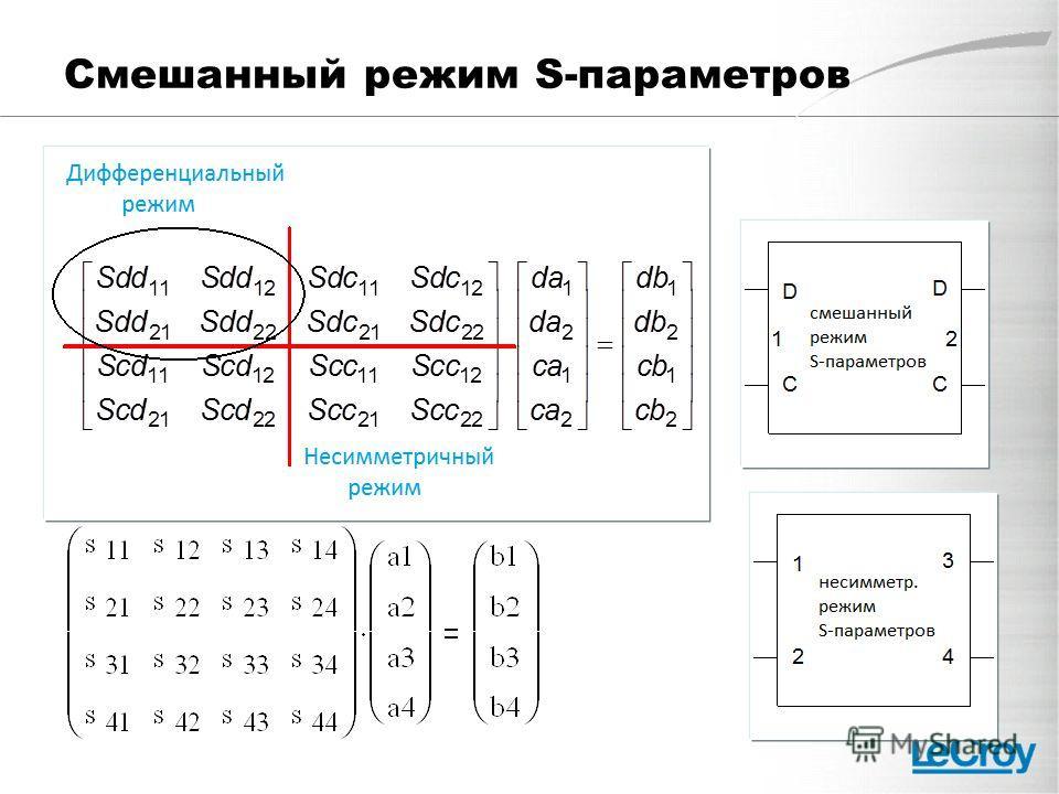 Смешанный режим S-параметров