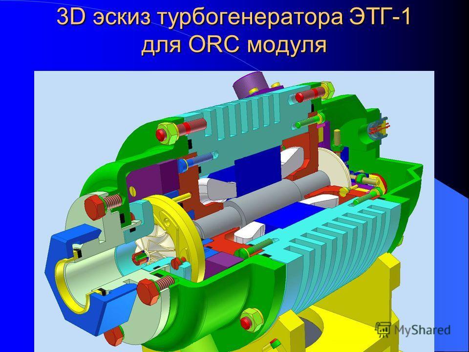3D эскиз турбогенератора ЭТГ-1 для ORC модуля