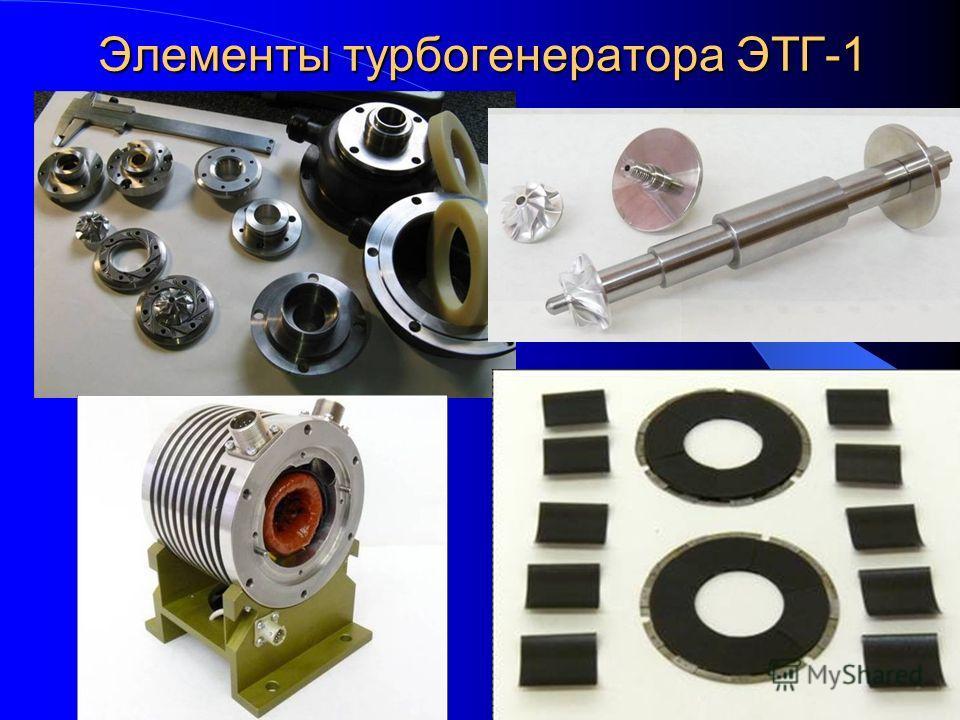 Элементы турбогенератора ЭТГ-1