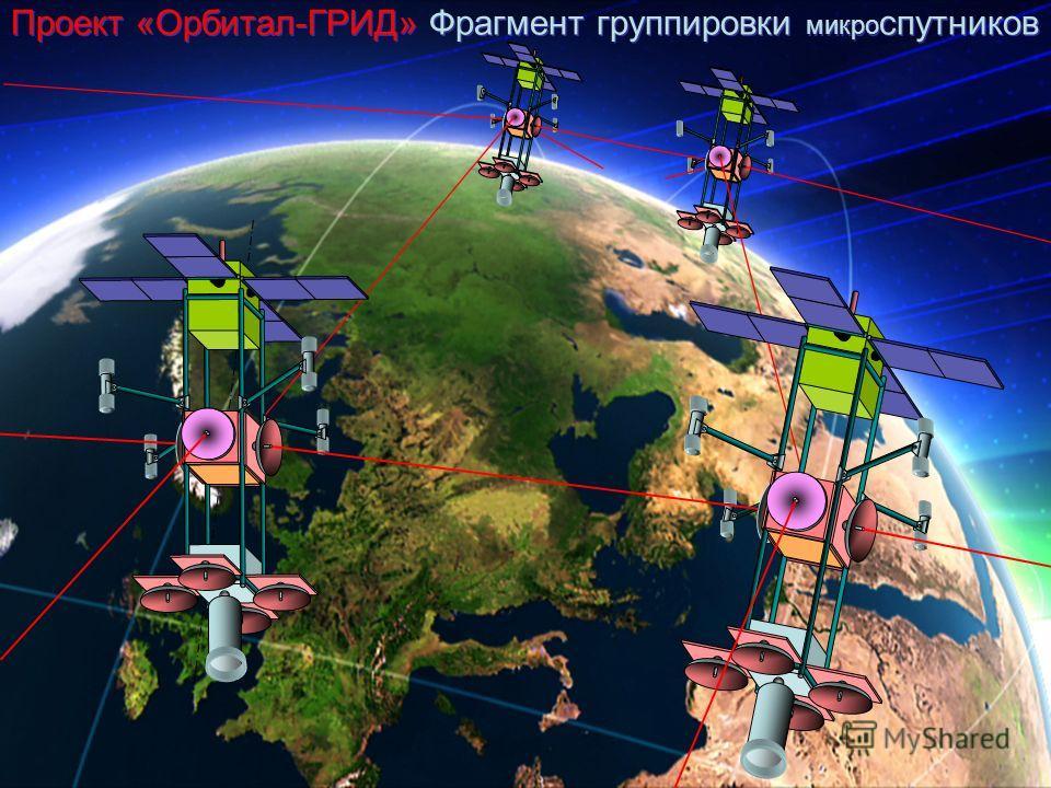 Проект «Орбитал-ГРИД» Фрагмент группировки микро спутников