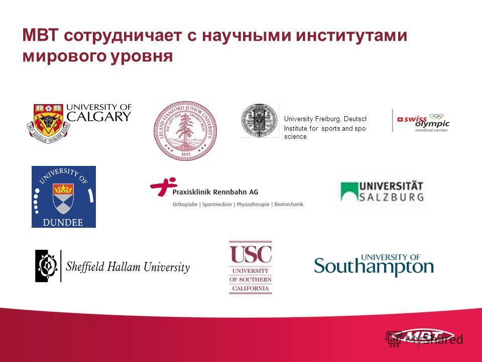 МВТ сотрудничает с научными институтами мирового уровня University Freiburg, Deutschland Institute for sports and sport science
