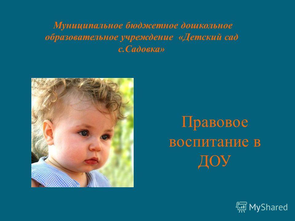Правовое воспитание в ДОУ Муниципальное бюджетное дошкольное образовательное учреждение «Детский сад с.Садовка»