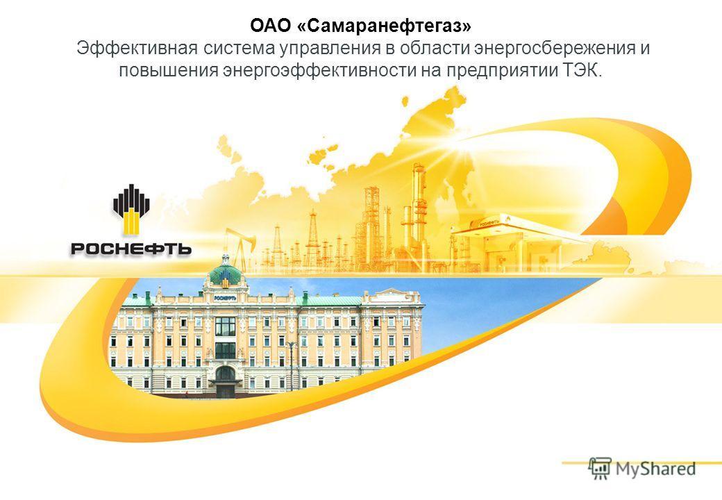 ОАО «Самаранефтегаз» Эффективная система управления в области энергосбережения и повышения энергоэффективности на предприятии ТЭК.