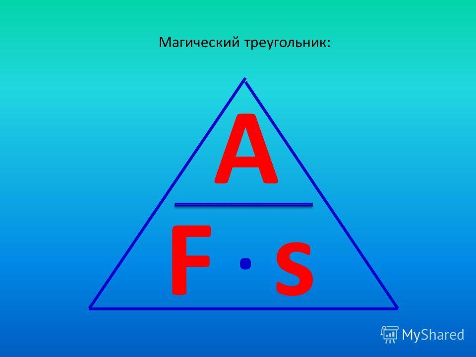 Магический треугольник: A Fs