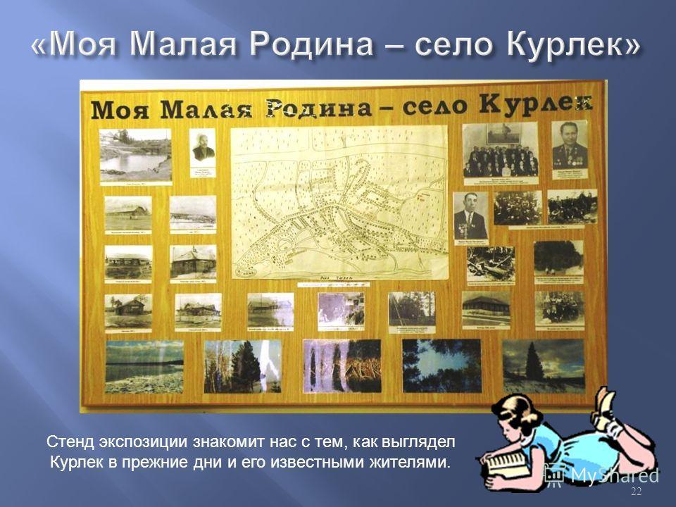 Стенд экспозиции знакомит нас с тем, как выглядел Курлек в прежние дни и его известными жителями. 22