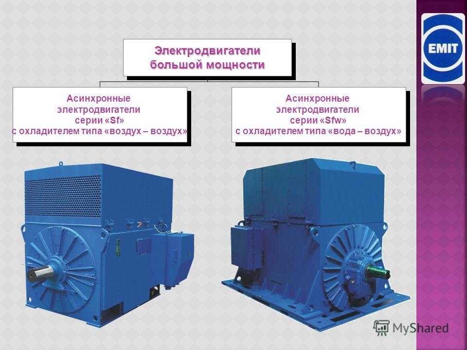 160-1800 к Вт 160-6000 к Вт Трехфазные электродвигатели высокого и низкого напряжения Трехфазные электродвигатели высокого и низкого напряжения Асинхронные Двигатели с повышенным к.п.д. серия «Sh» (система охлаждения IC411-TEFC) Асинхронные Двигатели