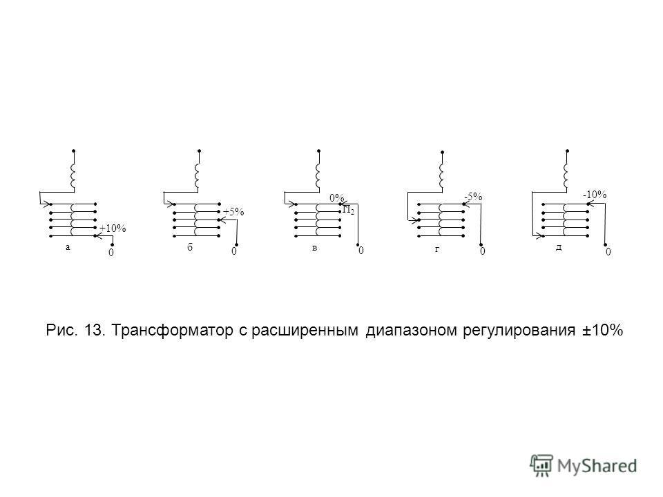 Рис. 13. Трансформатор с расширенным диапазоном регулирования ±10%