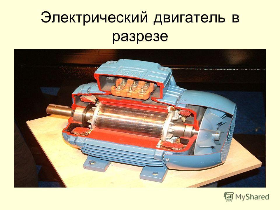 Электрический двигатель в разрезе
