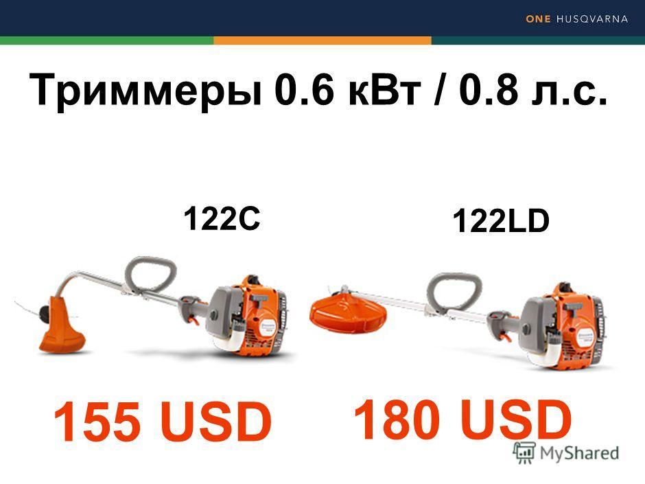 122С 122LD Триммеры 0.6 к Вт / 0.8 л.с. 155 USD 180 USD
